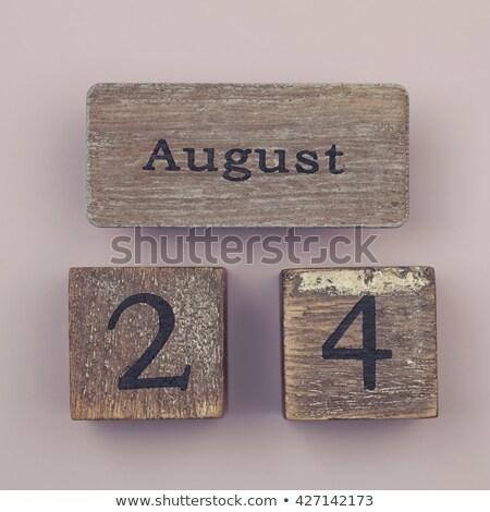 augusztus · naptár · webes · gomb · húsz · negyedik · nap - stock fotó © Oakozhan