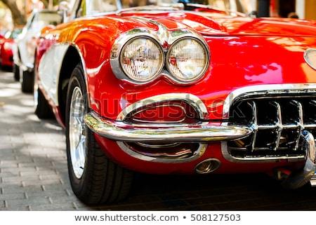 Close Up Detail of Shiny Red Classic Car. Stock photo © kyolshin