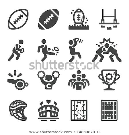 Rugby iconos ilustración diferente color deporte Foto stock © bluering