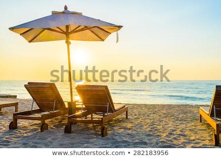 şezlong tatil zaman ada görmek dinlenmek Stok fotoğraf © bank215