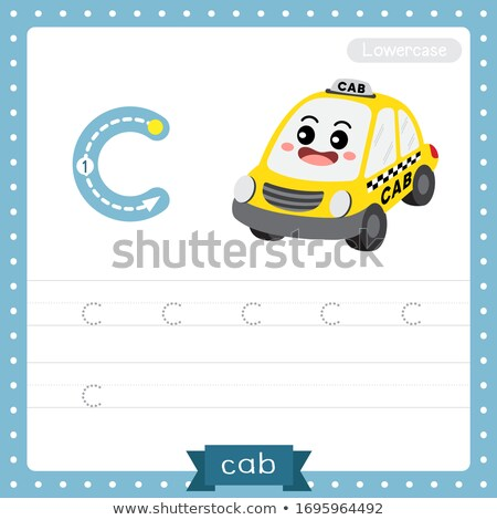Flashcard letter C is for cab Stock photo © bluering