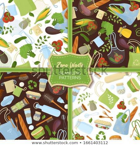 Set of food artwork Stock photo © bluering
