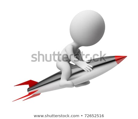 Zdjęcia stock: 3d Small People - Rocket