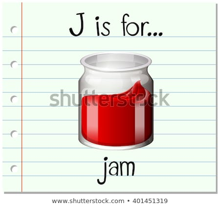 Flashcard letter J is for jelly Stock photo © bluering