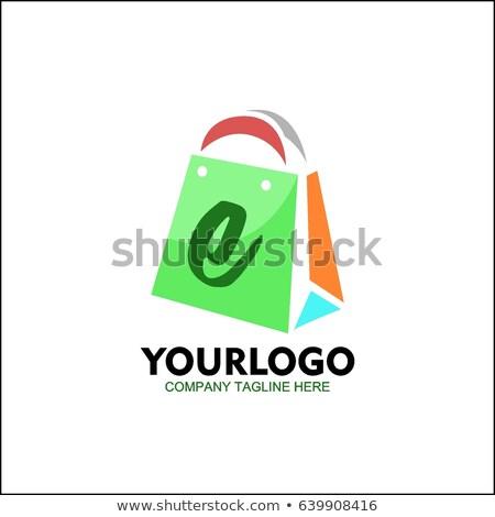colorful shopping bags lettre E stock photo © janssenkruseproducti