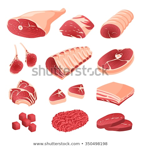 meat cuts assortment, vector Stock photo © Andrei_