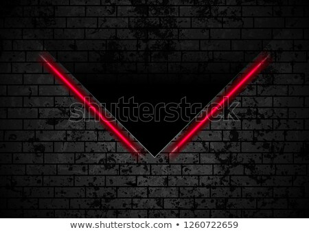 Tech black background with contrast red stripes Stock photo © saicle