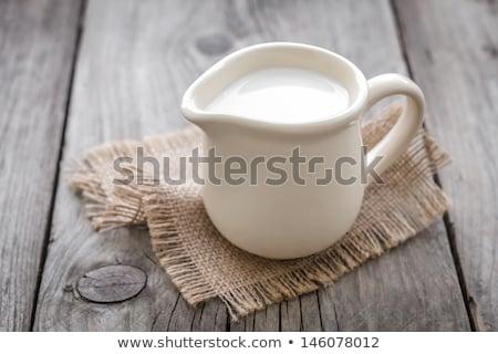 jarra · leche · fresca · blanco · beber · frío - foto stock © digifoodstock