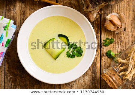 courgette with cream and herb Stock photo © M-studio