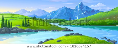River flowing in the distance Stock photo © TasiPas