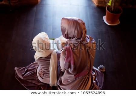 Muslim mother and daugther Stock photo © zurijeta