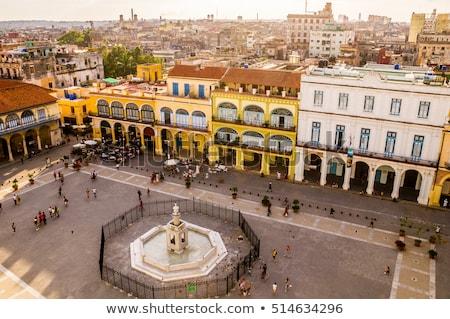 Bird's eye view of colorful Plaza Vieja in Havana Stock photo © julianpetersphotos