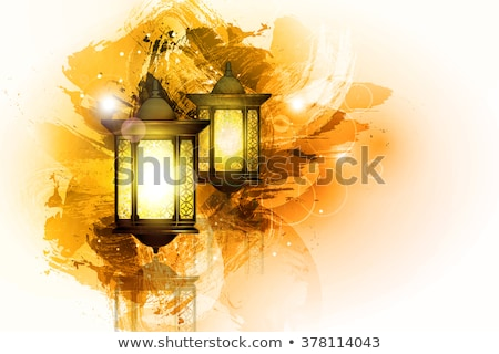 ramadan background with hanging lamps stock photo © sarts