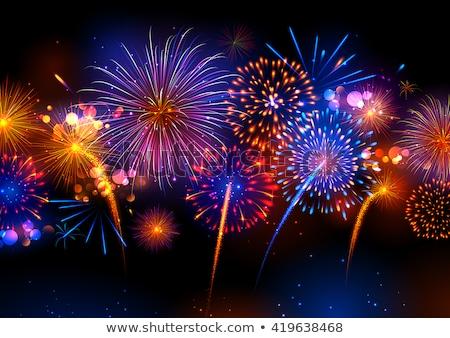 happy diwali fireworks display Stock photo © SArts