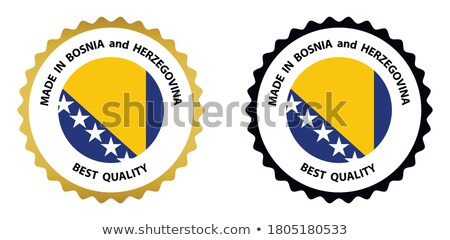 Made in Bosnia and Herzegovina rubber stamp Stock photo © 5xinc