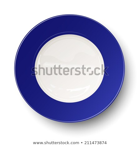 Profundo azul prato grande limpar Foto stock © Digifoodstock