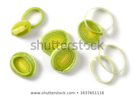 Poireau tranches détail fraîches coupé saine Photo stock © Digifoodstock