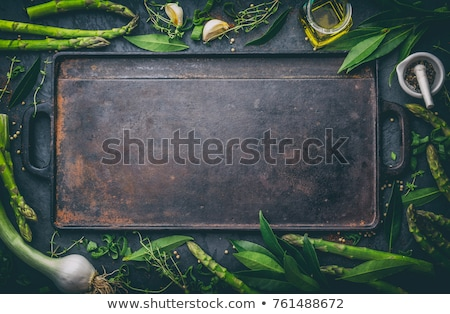 итальянской кухни меню зеленый иллюстрация продовольствие фон Сток-фото © bluering
