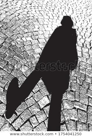 Voetganger schaduwen trottoir stedelijke exemplaar ruimte Stockfoto © stevanovicigor