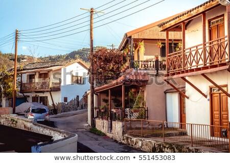 Falu utca kerület Ciprus nyár utazás Stock fotó © Kirill_M