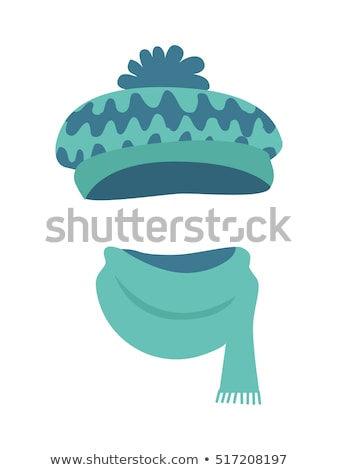 Hat. Stylish Warm Winter Headwear with Many Waves Stock photo © robuart