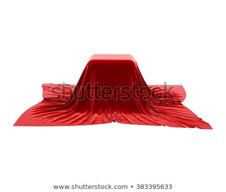 Vak gedekt Rood fluwelen weefsel groene Stockfoto © pakete