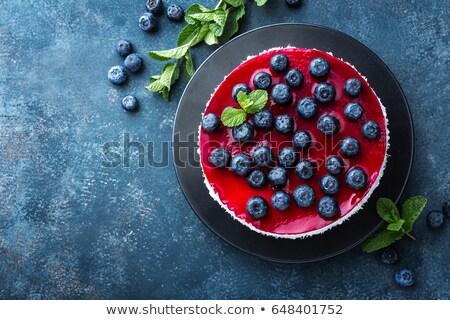 Blueberry cake with fresh berries and marmalade, cheesecake Stock photo © yelenayemchuk
