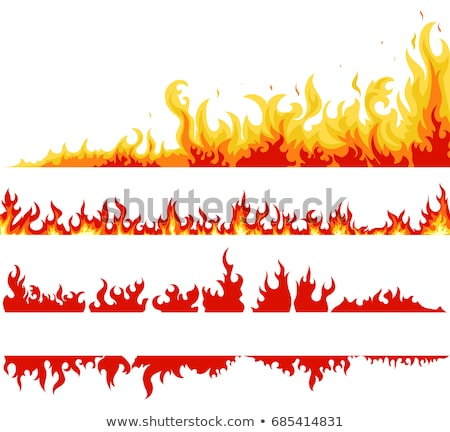 Fire banner, fame backgrounds, vector Stock photo © Andrei_