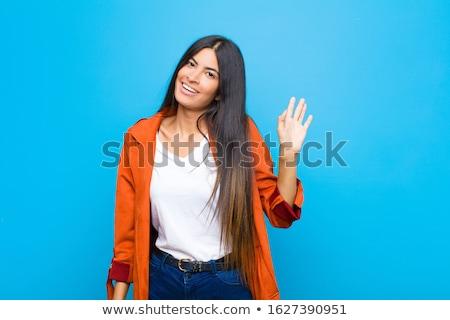 девочек привет до свидания иллюстрация девушки Сток-фото © bluering
