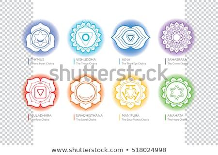 Vetor chakra símbolo ilustração coroa um Foto stock © TRIKONA