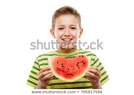 bello · sorridere · bambino · ragazzo · verde - foto d'archivio © ia_64