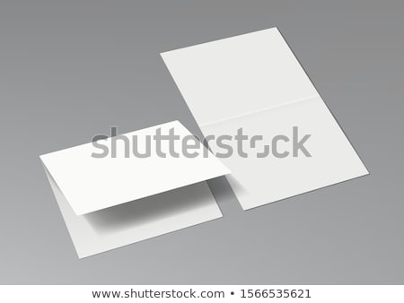 White Folder Paper Greeting Card Vector Template stock photo © pikepicture