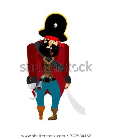piraat · triest · depressie · vector - stockfoto © popaukropa