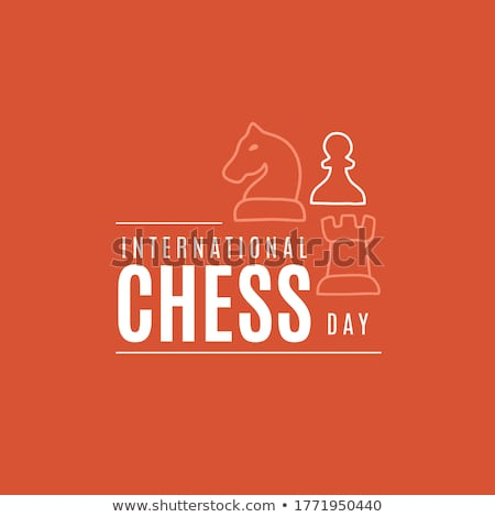 20 internacional xadrez dia calendário cartão Foto stock © Olena