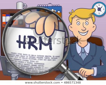 HRM through Lens. Doodle Concept. Stock photo © tashatuvango