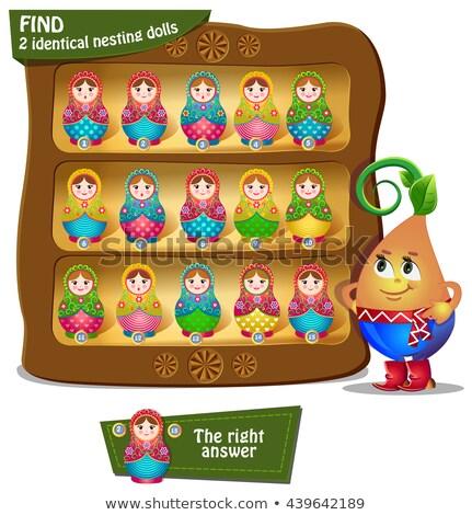 Сток-фото: находить · идентичный · кукол · игры · детей · образование