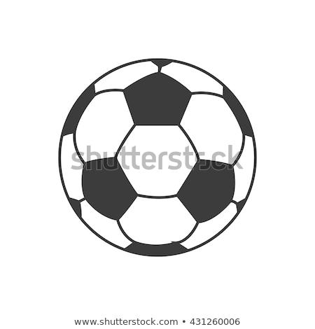 Fussball Fussball Symbol Lange Schatten Gras