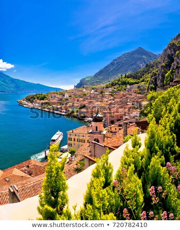 Lago di Garda panoramic view in Limone sul Garda Stock photo © xbrchx