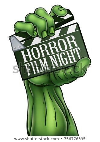 Сток-фото: Horror Film Zombie Or Monster Clapper Board Sign