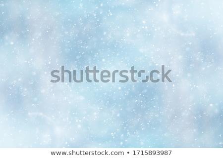Kar mavi bulutlar bokeh daire Stok fotoğraf © romvo