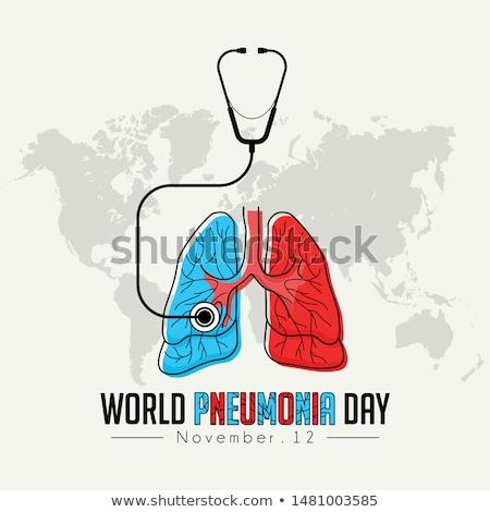 pneumonia day illustration stock photo © olena