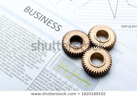 экономический сотрудничество передач механизм свечение Сток-фото © tashatuvango