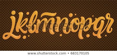 n · betű · fánk · betűtípus · fánk · ábécé · édes - stock fotó © maryvalery