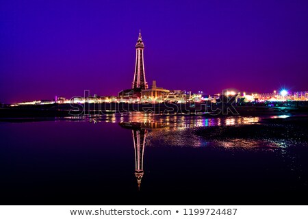 Blackpool at night Stock photo © chris2766
