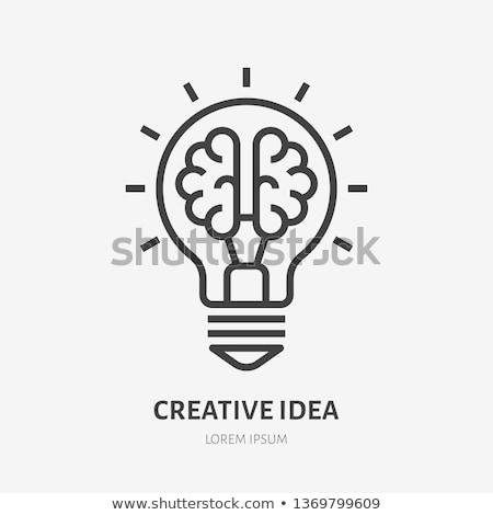 лампа мозг внутри творческое мышление Сток-фото © psychoshadow