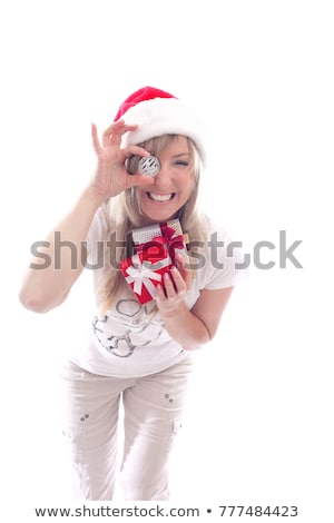 Mulher presentes outro mão feliz Foto stock © lovleah