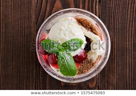 bril · eigengemaakt · kersen · voedsel · Rood - stockfoto © mpessaris