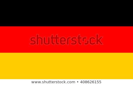 bandera · Alemania · cielo · azul · nubes · sol · rojo - foto stock © gravityimaging
