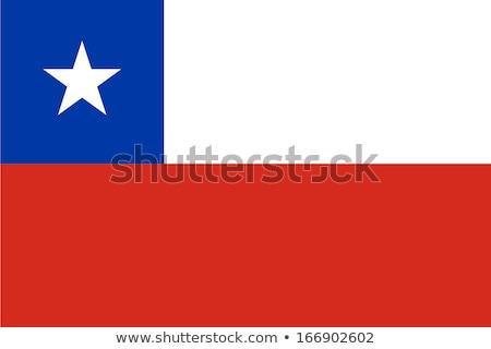 Chile bandeira branco coração projeto azul Foto stock © butenkow