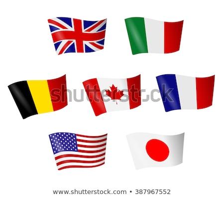 bandiera · Giappone · illustrazione · bianco · japanese - foto d'archivio © rogistok